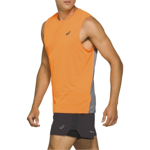 Asics Race Tank - Orange Pop/Sheet Rock