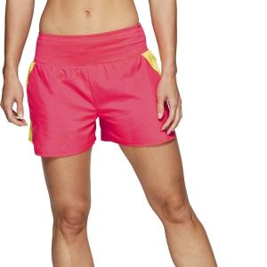 Asics Road 4in Shorts - Laser Pink/Sour Yuzu