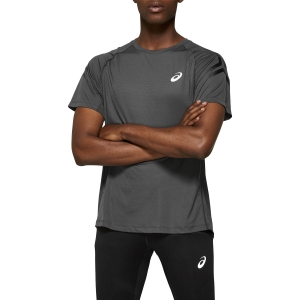 Men's Running T-Shirt Asics Silver Icon TShirt  Dark Gray/Performance Black 2011A467020