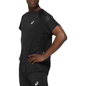 Men's Running T-Shirt Asics Silver Icon TShirt  Performance Black/Dark Grey 2011A467001