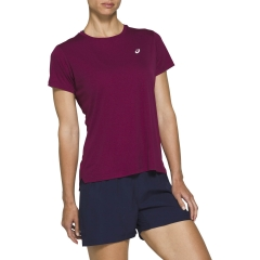 Asics Asics Silver TShirt  Dried Berry  Dried Berry 2012A029605