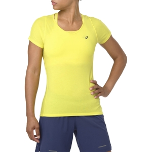 Asics V Neck T-Shirt - Lemon Spark