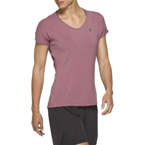 Asics V Neck Mesh T-Shirt - Purple Oxide