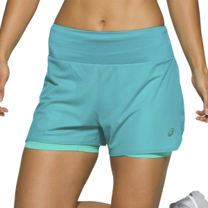 Asics Ventilate 2 In 1 3.5in Shorts - Lagoon/Sea Glass