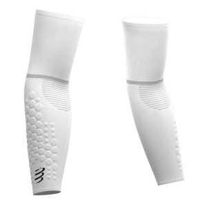 Arm Warmer Compressport Armforce Ultralight Arm Sleeves  White SU00008B001