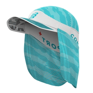 Gorra y Visera Compressport Ice Sun Shade Gorra  White/Blue CU00002B002
