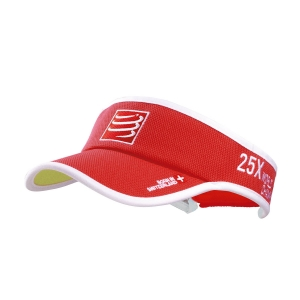 Hats & Visors Compressport Logo Visor  Red VISOR04