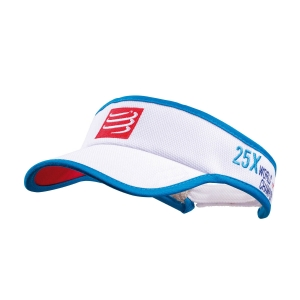 Hats & Visors Compressport Logo Visor  White VISOR08