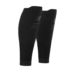 Calf Support Compressport R2V2 Flash Calf Sleeves  Black SU00010B990