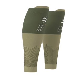 Calf Support Compressport R2V2 Calf Sleeves  Dusty Olive SU00002B602
