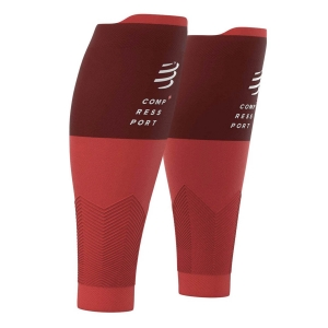 Calf Support Compressport R2V2 Calf Sleeves  Red SU00002B300