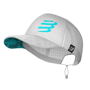 Gorra y Visera Compressport Racing Trucker Gorra  White CU00004B001