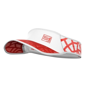 Gorra y Visera Compressport Spiderweb Ultralight Visera  Red/White SULVISOR02