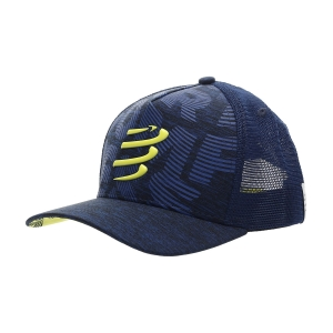 Hats & Visors Compressport Trucker Cap  Blue Lime CU00008B503