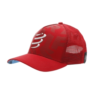 Gorra y Visera Compressport Trucker Gorra  Red CU00008B300