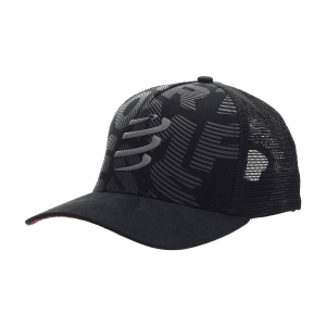 Hats & Visors Compressport Trucker Flash Cap  Black CU00021B990
