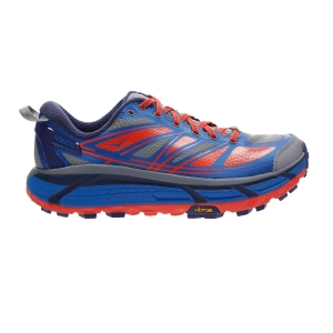 Men's Trail Running Shoes Hoka One One Mafate Speed 2  Imperial Blue/Mandarin Red 1012343IBMR