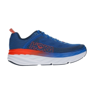Men's Neutral Running Shoes Hoka One One Bondi 6  Imperial Blue/Majolica Blue 1019269IBMB