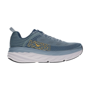 Men's Neutral Running Shoes Hoka One One Bondi 6  Lead/Majolica Blue 1019269LMCB