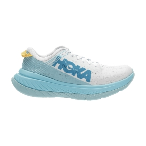 Women's Performance Running Shoes Hoka One One Carbon X  White/Angel Blue 1102887WALB