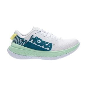 Men's Performance Running Shoes Hoka One One Carbon X  Green Ash/White 1102886GAWH