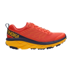 Men's Trail Running Shoes Hoka One One Challenger Atr 5  Mandarin Red/Black Iris 1104093MRBI