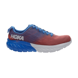 Men's Performance Running Shoes Hoka One One Mach 3  Imperial Blue/Mandarin Red 1106479IBMR