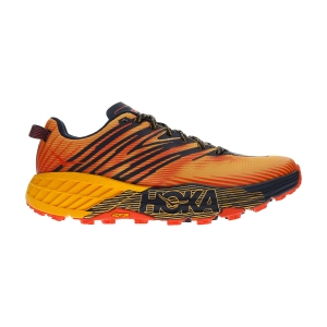 Men's Trail Running Shoes Hoka One One Speedgoat 4  Gold Fusion/Black Iris 1106525GFBI