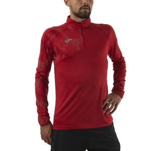 Men's Running Shirt Joma Night Reflective Raco Shirt  Burgundy 101416.682