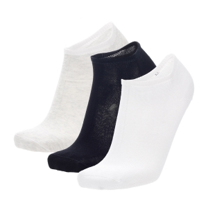 Running Socks Mico Invisibile Light Weight x 3 Socks  Bianco/Nero/Ghiaccio CA 1909 902