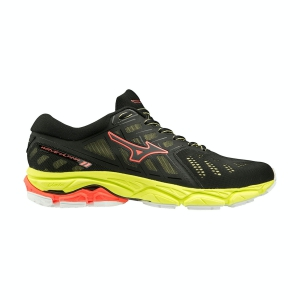 Women's Neutral Running Shoes Mizuno Wave Ultima 11  Black/Fiery Coral J1GD190909