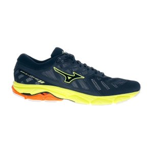 Men's Neutral Running Shoes Mizuno Wave Ultima 11  Dress Blue/Safety Yellow J1GC190911