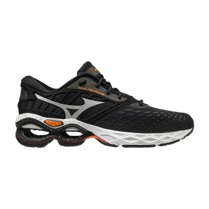 Men's Neutral Running Shoes Mizuno Wave Creation 21  Black/Phantom/Shocking Orange J1GC200116