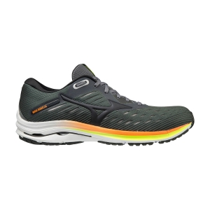 Men's Neutral Running Shoes Mizuno Wave Rider 24  Castlerock/Phantom/Shocking Orange J1GC200316