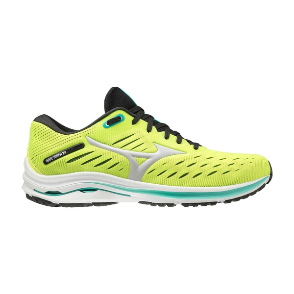 Mizuno Wave Rider 24 - Safety Yellow/Nimbus Cloud/Atlantis
