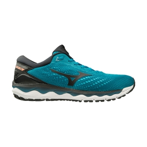 Men's Neutral Running Shoes Mizuno Wave Sky 3  Enamel Blue/Nimbus Cloud/Black J1GC190209