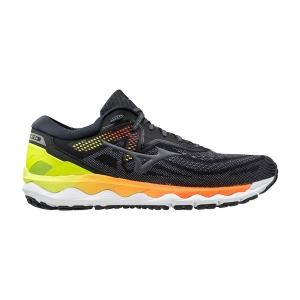 Men's Neutral Running Shoes Mizuno Wave Sky 4  Phantom/Castlerock/Safety Yellow J1GC200236