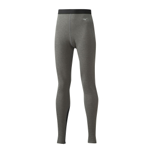 Women's Underwear Tights Mizuno Merino Wool Tights  Grey/Black 73CL37609
