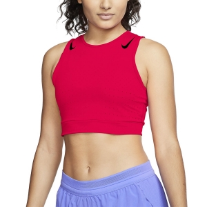 Canotta Running Donna Nike Aeroswift Crop Canotta  Bright Crimson/Black CJ2371635