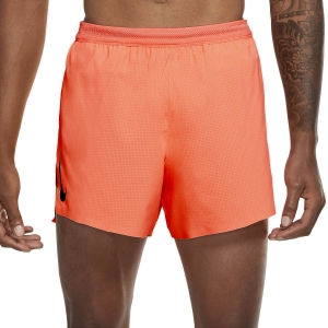 Nike Aeroswift 4in Shorts - Bright Mango/Black
