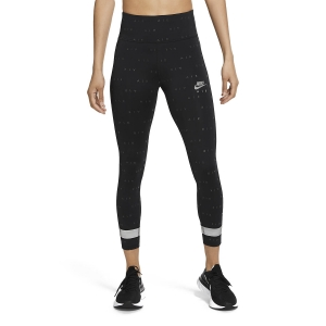 Women's Running Tight Nike Air Logo 7/8 Tights  Black/Reflective Silver CU3351010