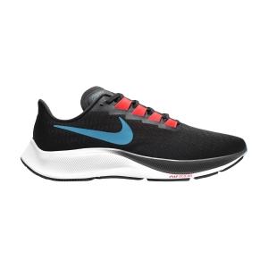 Nike Air Zoom Pegasus 37 - Off Noir/Light Blue Fury/Bright Crimson
