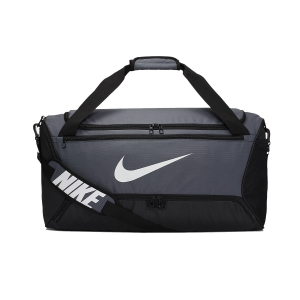 Nike Brasilia Medium Duffle - Flint Grey/Black/White
