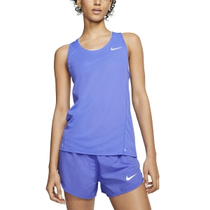 Canotta Running Donna Nike City Sleek Canotta  Sapphire/Reflect Silver CJ2011500