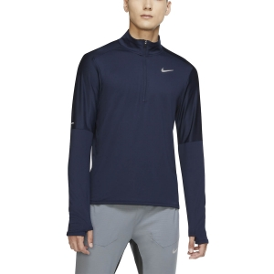 Camisetas Running Hombre Nike Classic Element Camisa  Obsidian/Reflective Silver CU6073451