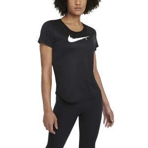 Nike Classic Swoosh Run Camiseta - Black/Reflective Silver
