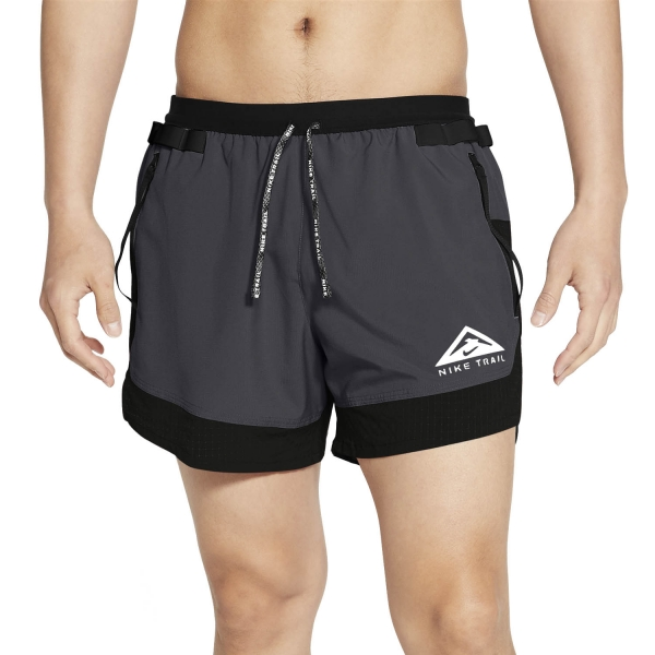 Nike Dri-FIT 5in Flex Stride Shorts - Black/Dark Smoke Grey/White