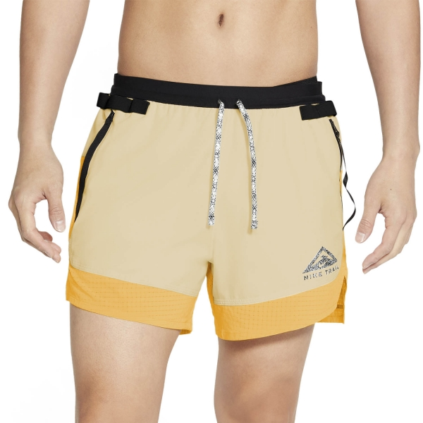 Nike Dri-FIT 5in Flex Stride Shorts - Solar Flare/Beach Black