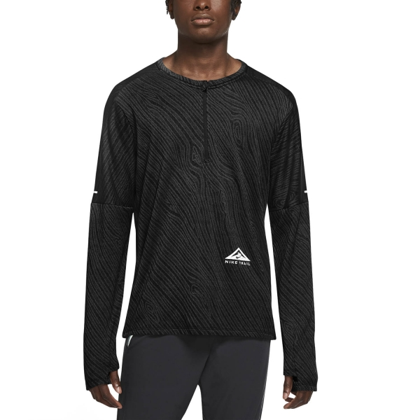 Nike Dri-FIT Element Shirt - Black/Dark Smoke Grey