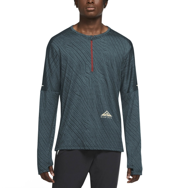 Nike Dri-FIT Element Shirt - Dark Teal Green/Hasta